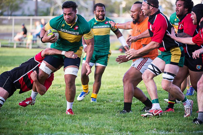 Players in a Rugby Game