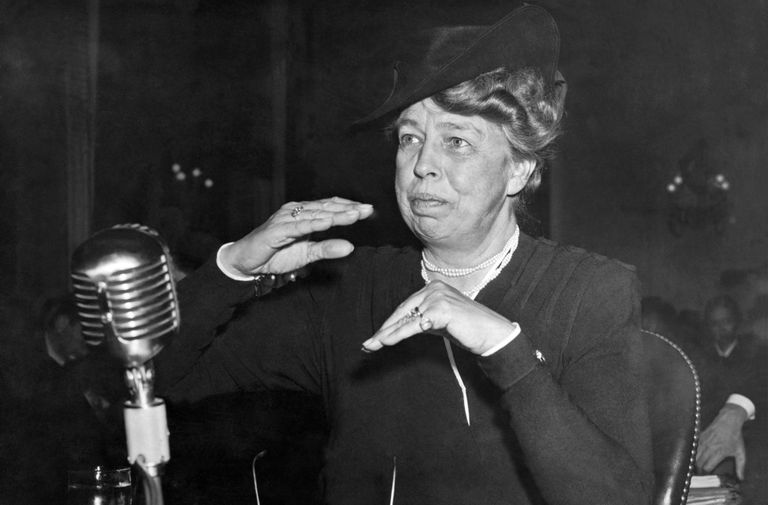 Eleanor Roosevelt At Hearing