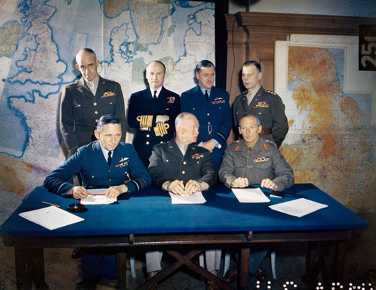 Ramsay, second left in the back row, with other D day planners