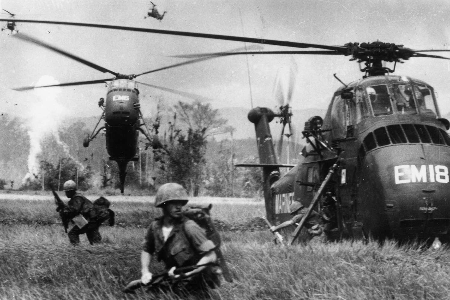 Helicopters had a major role in the Vietnam War.