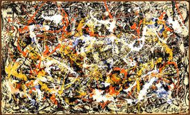 Jackson Pollock (American, 1912-1956). Convergence, 1952. Oil on canvas. 93 1/2 x 155 in. (237.5 x 393.7 cm). Gift of Seymour H. Knox, Jr., 1956. Albright-Knox Art Gallery, Buffalo, N.Y.