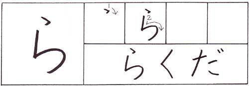 how to write the hiragana ra character