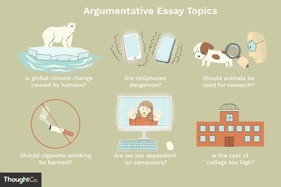 Argumentative essay topics high school