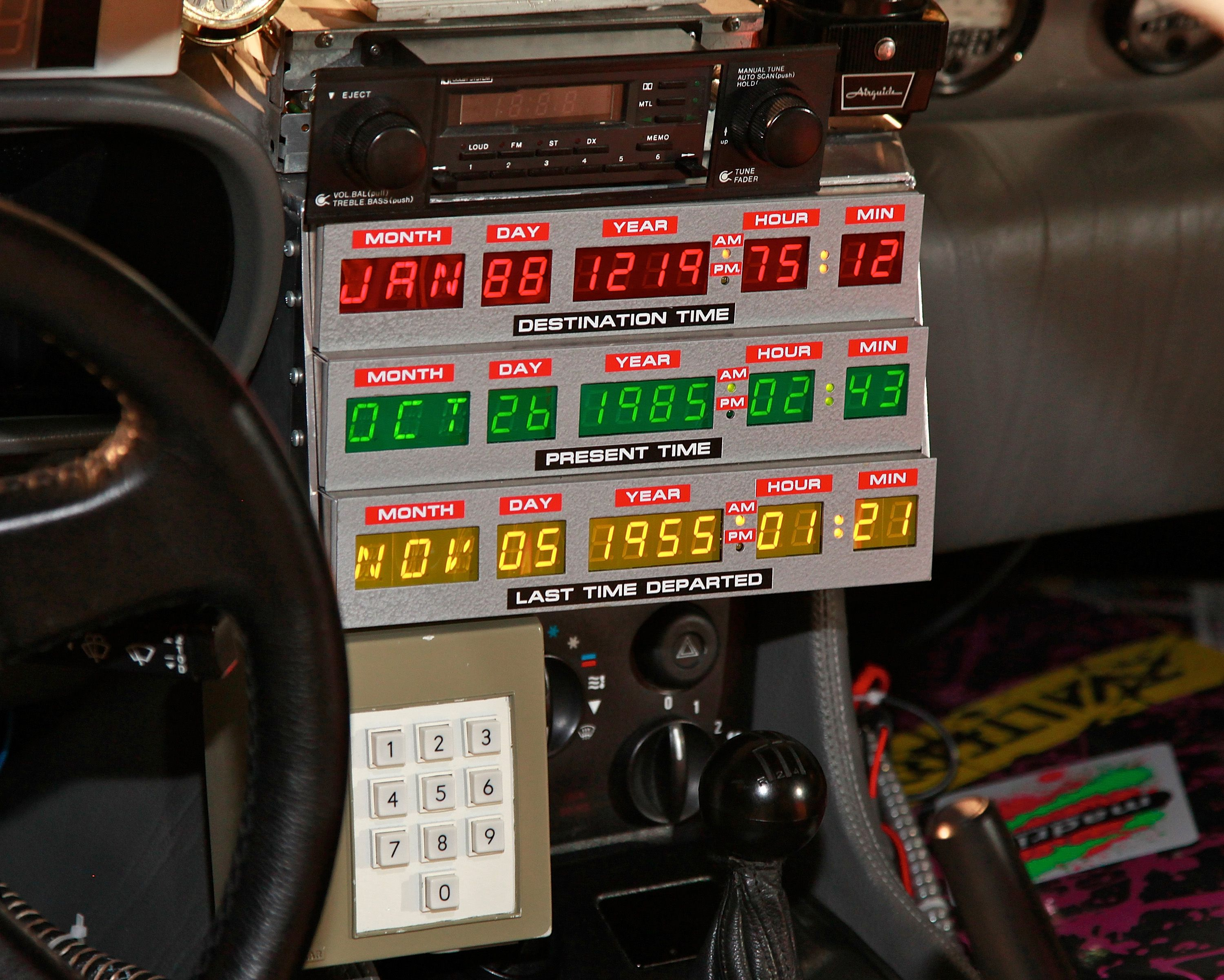 The control board inside the car in