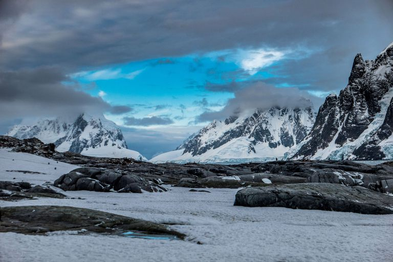 Landscape view of Antarctic peninsula from Petermann Island