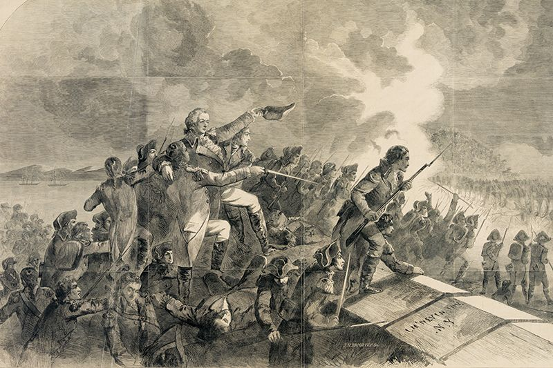 American troops assaulting Stony Point in 1779