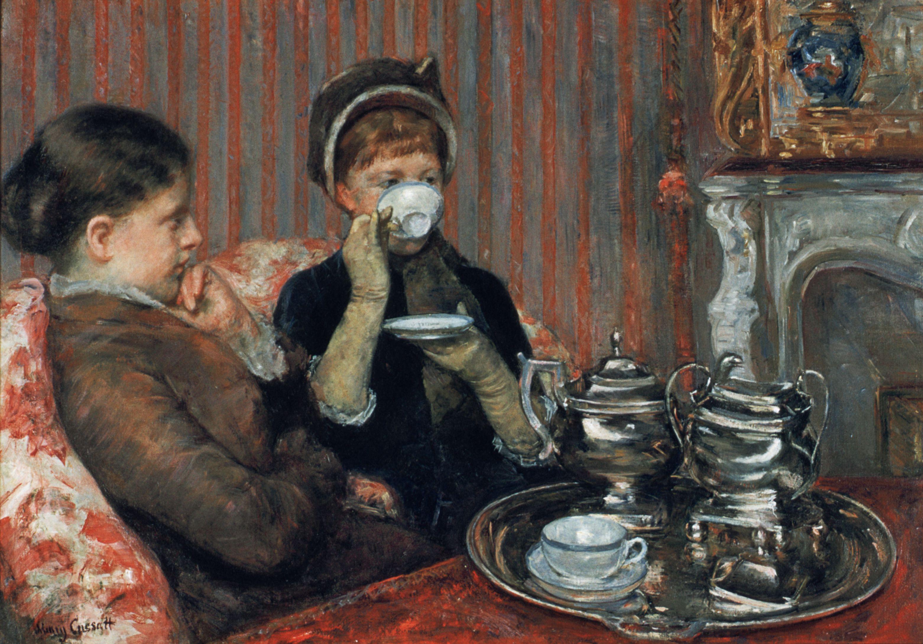 A Cup of Tea by Mary Cassatt