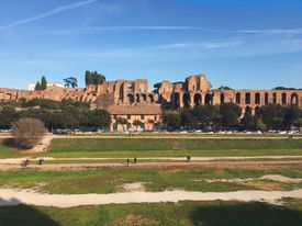 Scenic View Of Circus Maximus Against Sky