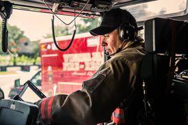 Firefighter Responding To Emergency Call
