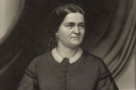Engraved portrait of Mary Todd Lincoln