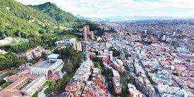 aerial view of Bogota