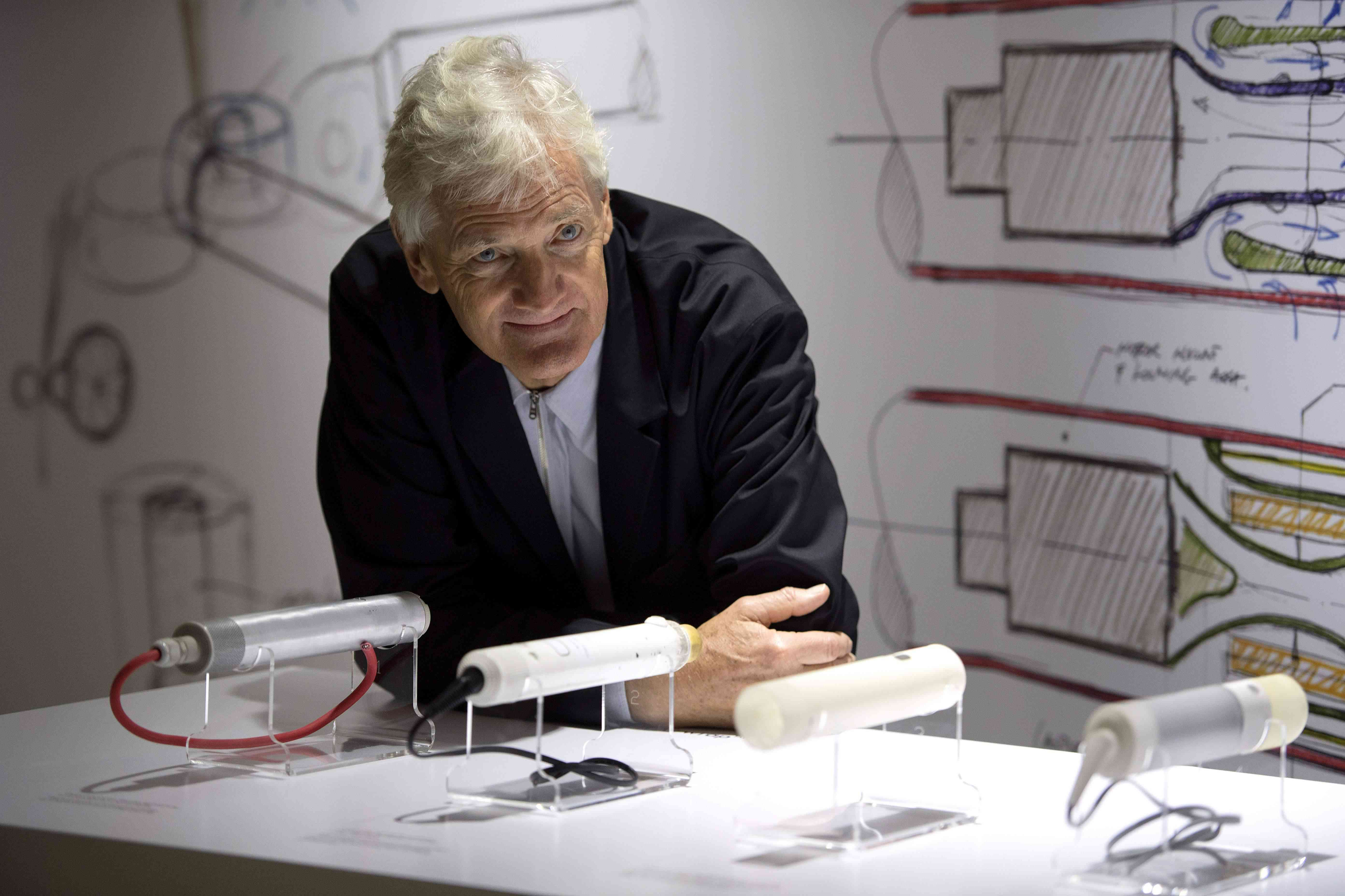 James Dyson posing for the camera.