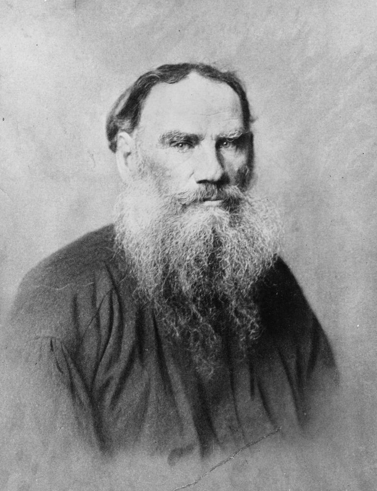 Portrait of author Leo Tolstoy