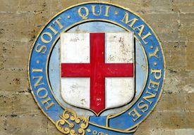 English symbol bearing the words