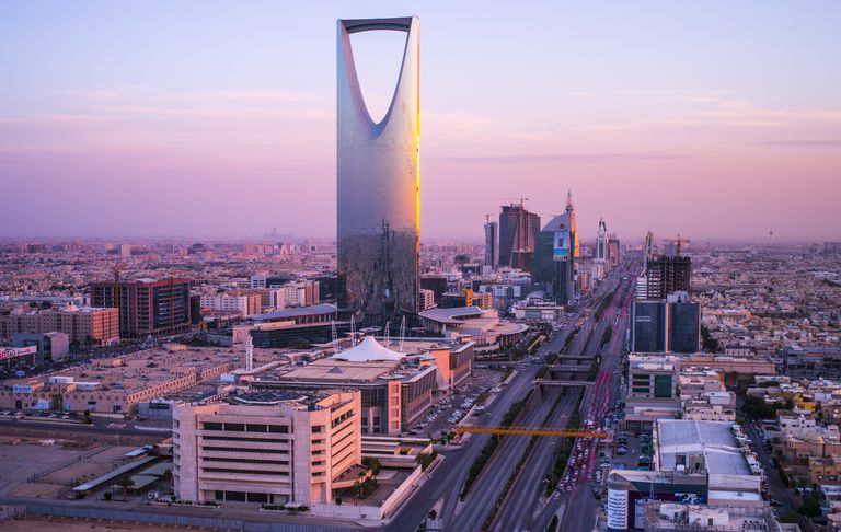 Riyadh at sunset