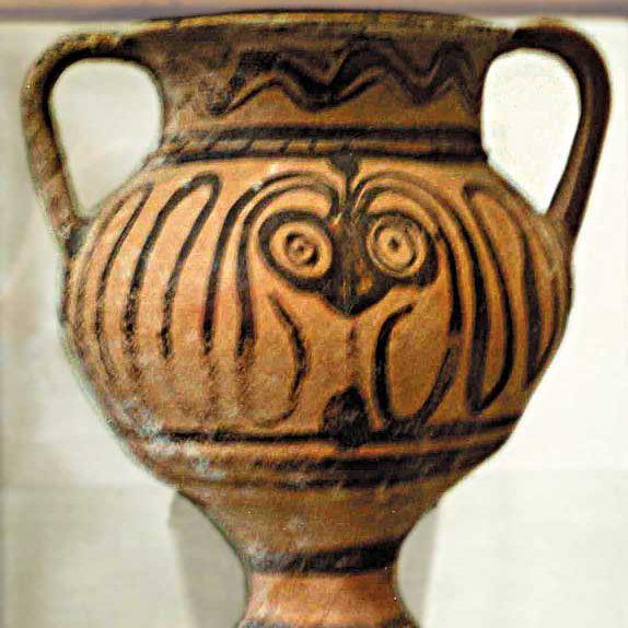 Greek Vase, Heraklion Museum (Flying Spaghetti Monster)