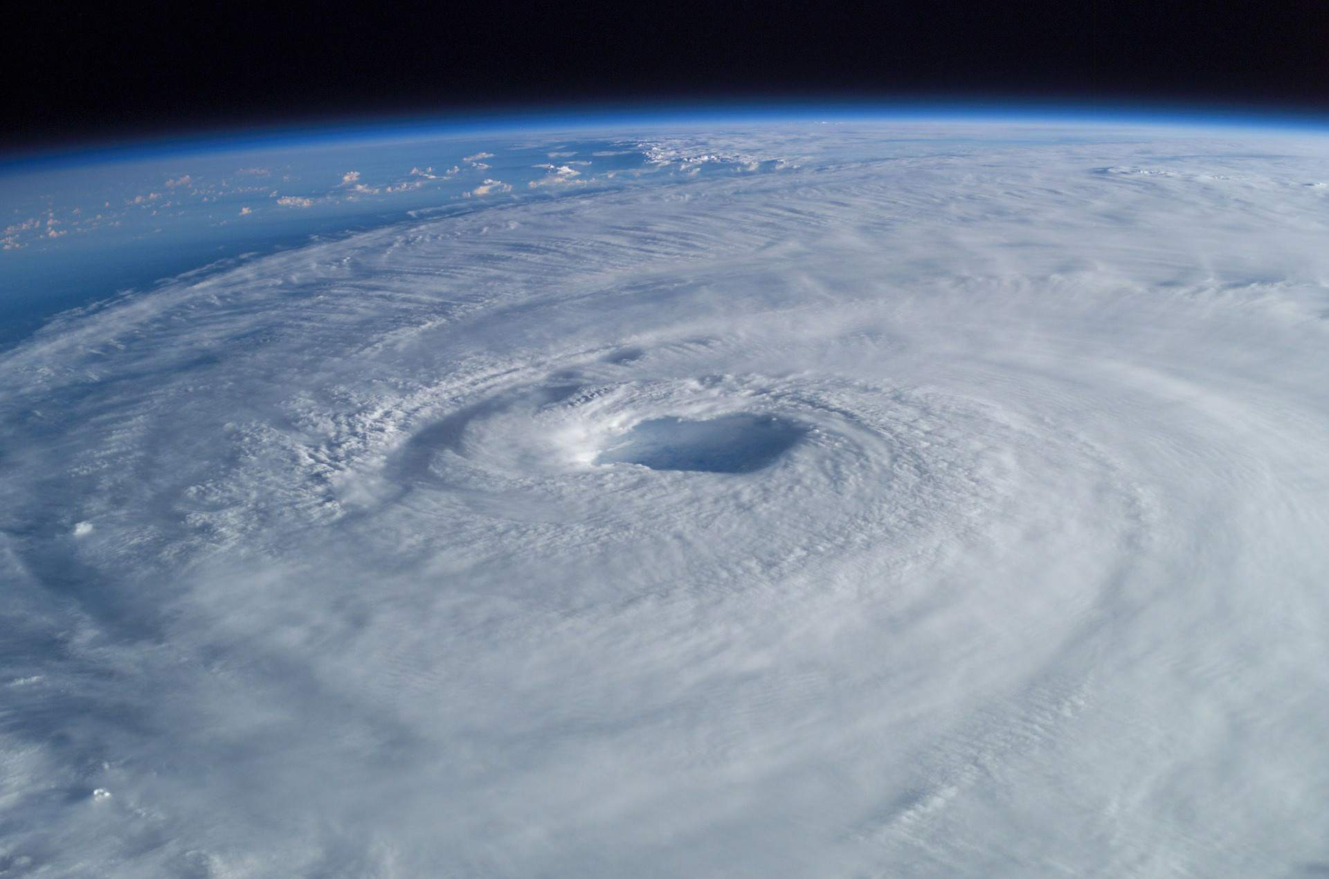 Tropical storm aerial photograph.