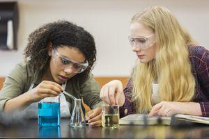 Students conducting a scientific experiment
