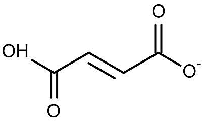 This is the chemical structure of the fumarate (1-) anion.