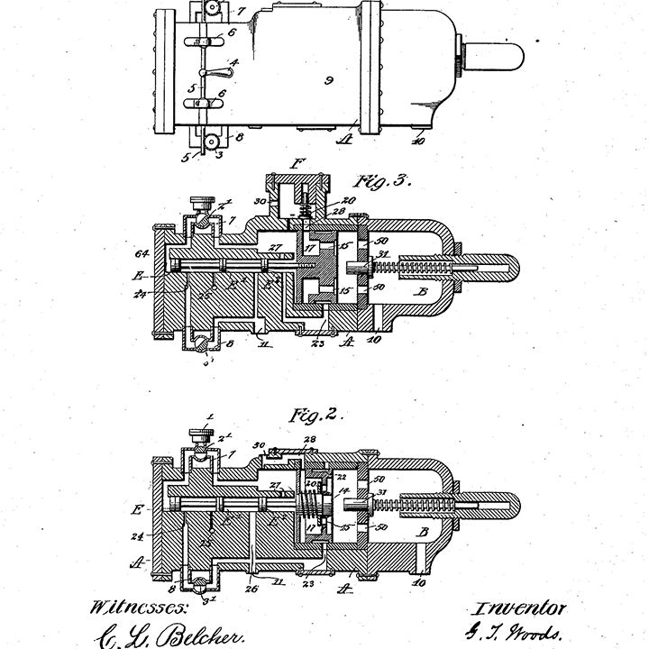 patent for Granville T. Woods' automatic air brake, 1902
