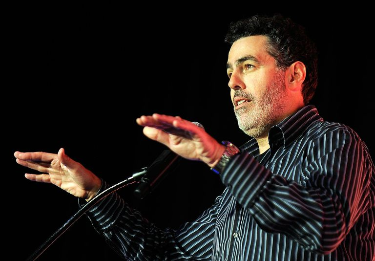 LAS VEGAS, NV - MARCH 25: Television personality Adam Carolla speaks during a keynote address at the 29th annual Nightclub & Bar Convention and Trade Show at the Las Vegas Convention Center