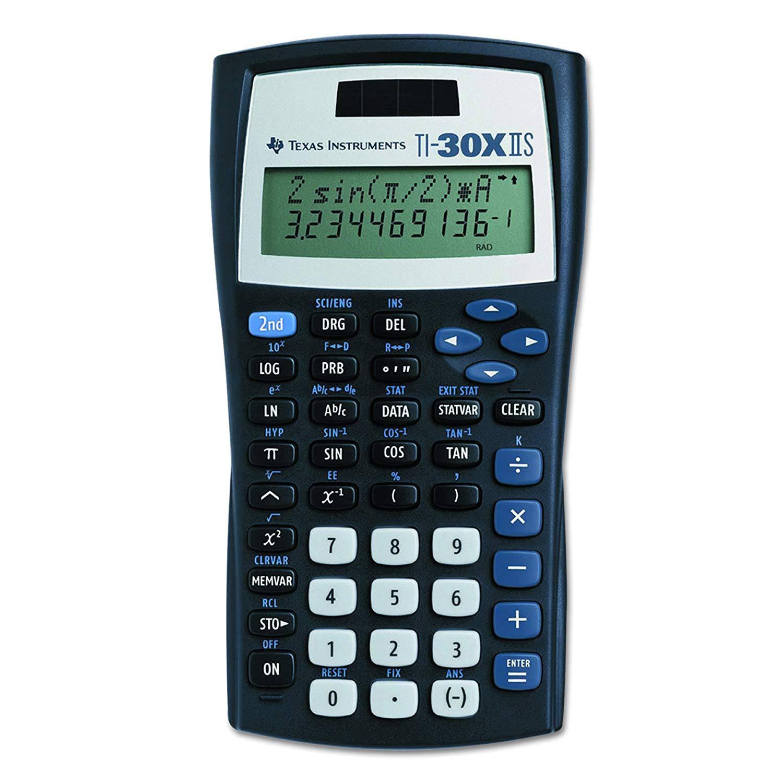 Texas Instruments TI-30X IIS 2-Line Scientific Calculator