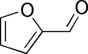 This is the chemical structure of furfural.