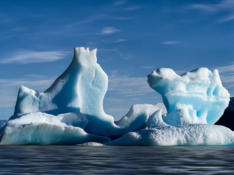 Icebergs are made of fresh water, not salt water.