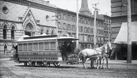 Horse-Drawn Streetcar in New York City