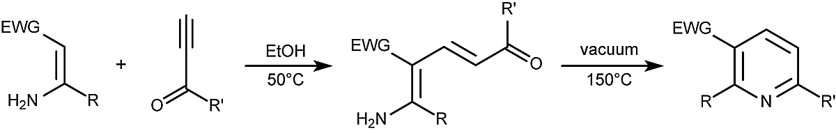This is the general form of the Bohlmann-Rahtz pyridine synthesis.