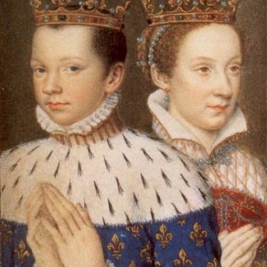 Francis II, King of France, with his consort, Mary, Queen of Scots, during their brief reign