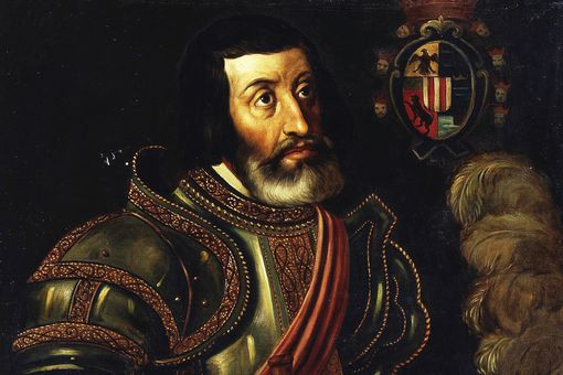 Portrait of Cortés at Museo del Prado