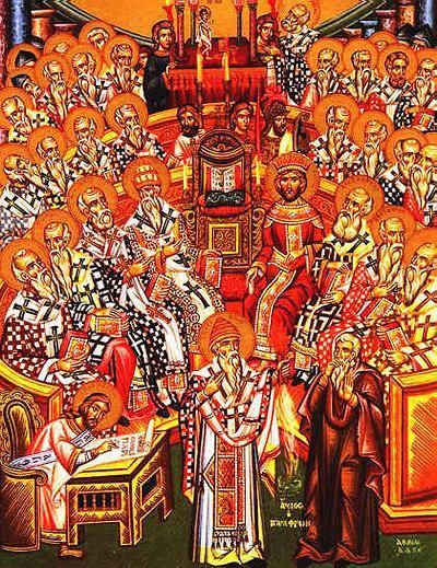 Icon of the First Council of Nicea