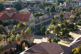 aerial shot of Stanford campus