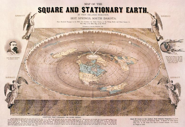 A flat-Earth map