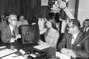 1972 - High school student Judith Miles discusses her proposed Skylab experiment.