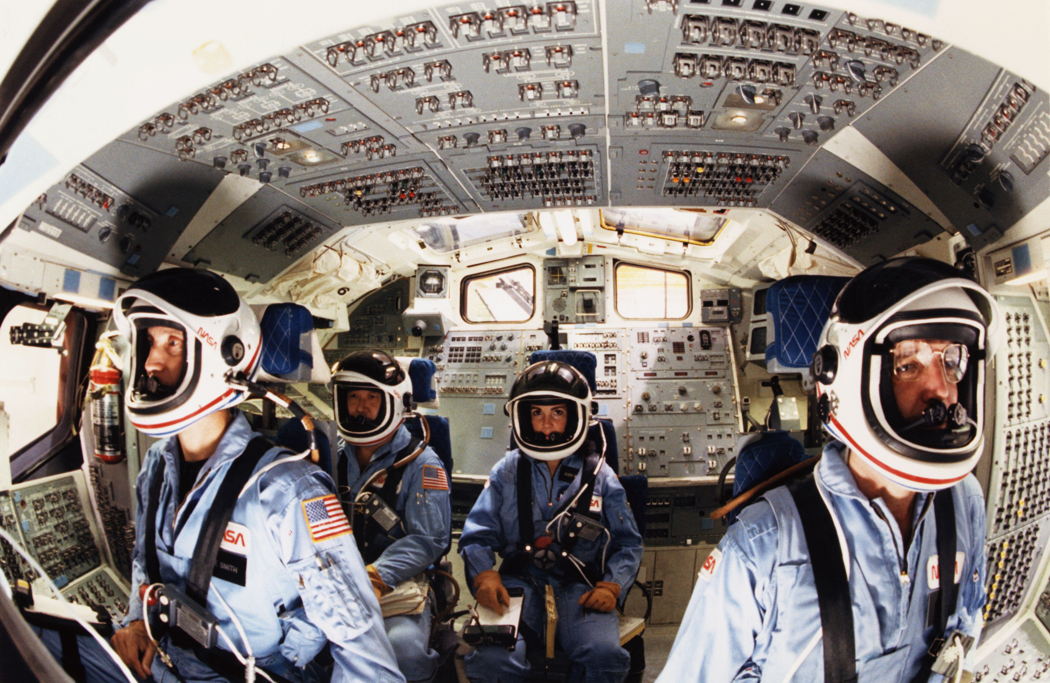 American Space Shuttle Astronauts Before Tragic Flight