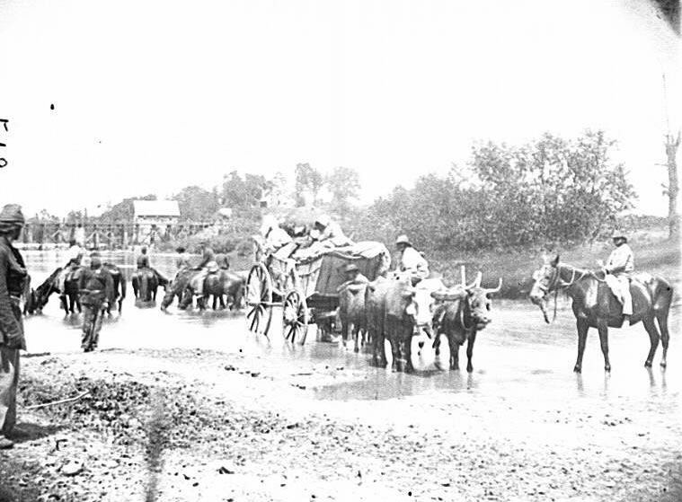 African-Americans fleeing from Virginia after the 2nd Battle of Bull Run.