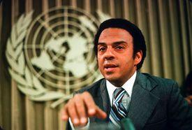 Ambassador Young at UN Press Conference