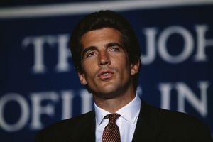 John Kennedy, Jr. Attends Ceremony Awarding the John Kennedy Prize