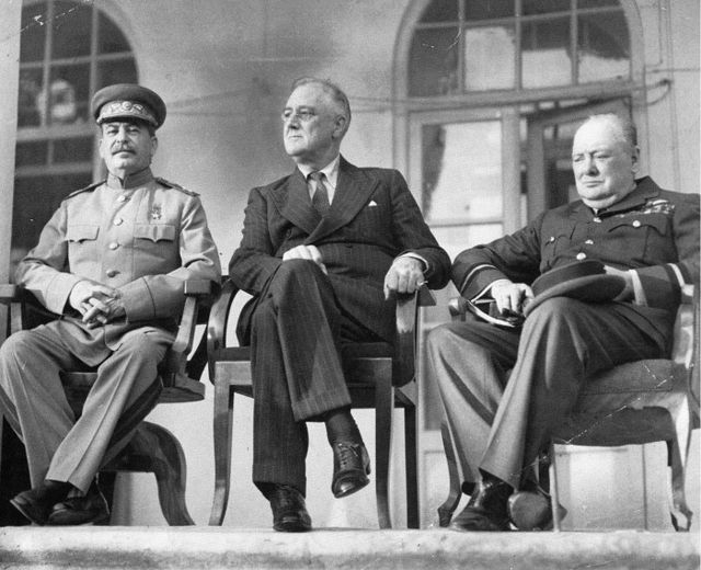World War Ii Allied Leaders At The Tehran Conference