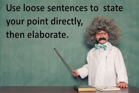 An image explaining loose sentence structure