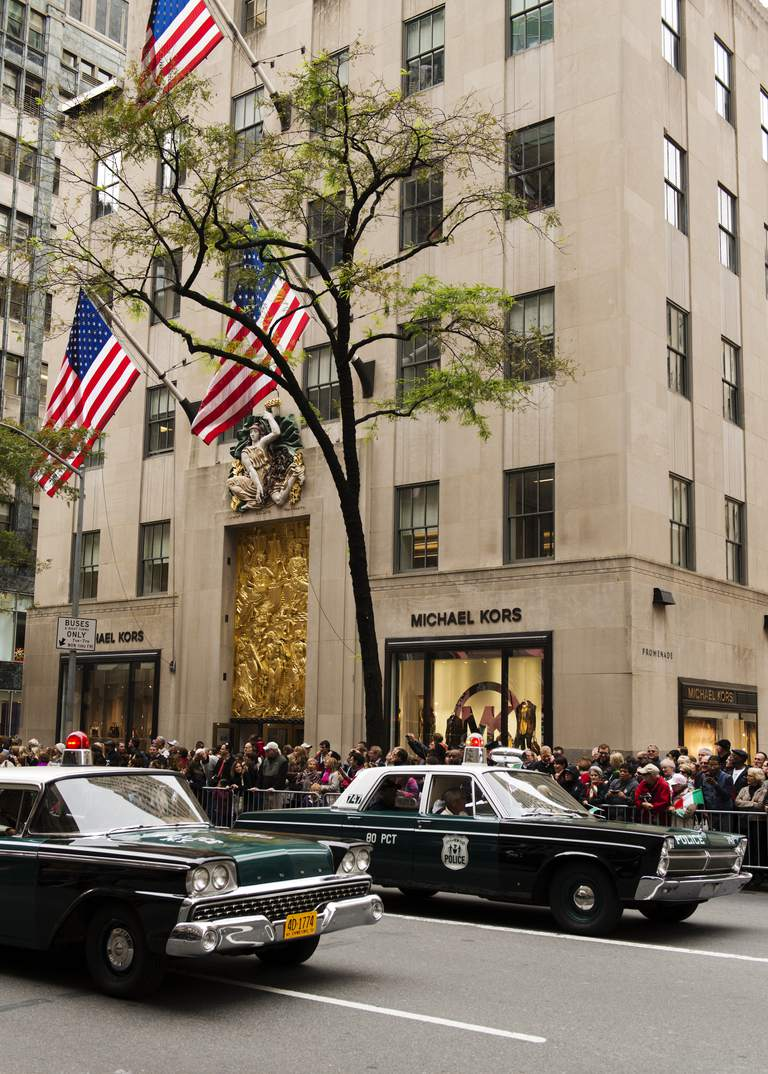 Parade on Fifth Avenue during Columbus Day