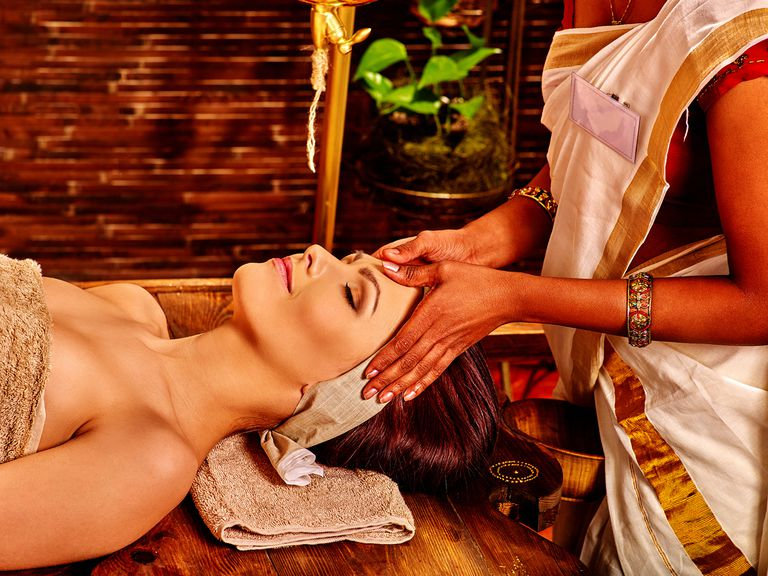Woman Having Ayurveda Spa Treatment