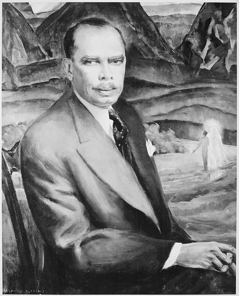 Painting of James Weldon Johnson by Laura Wheeler Waring