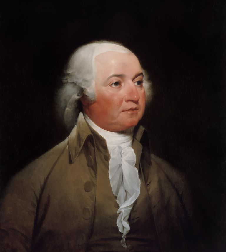 Digitally restored American history painting of President John Adams.