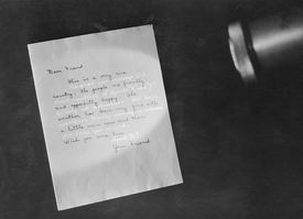 Letter Showing Invisible Ink