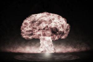 mushroom cloud from a nuclear blast