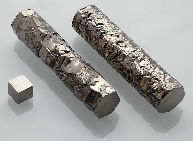 Zirconium is a lustrous gray transition metal.
