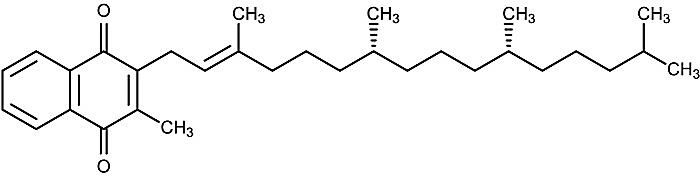 This is the chemical structure of phylloquinone.